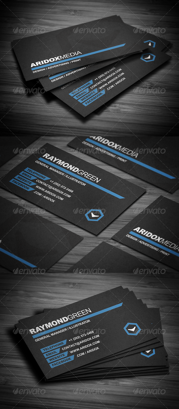 GraphicRiver Stylish Business Card 3196140