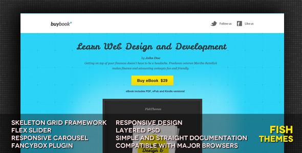 BuyBook Responsive Landing Page