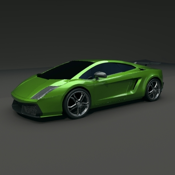 3DOcean Gallardo superleggera redesign 3197767