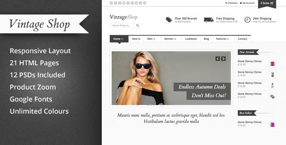 Vintage Shop - Responsive eCommerce HTML Template