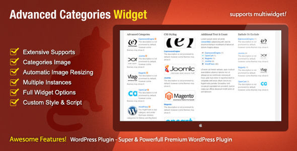 CodeCanyon Advanced Categories Widget 422878