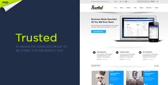 ThemeForest Trusted PSD Templates 3193234
