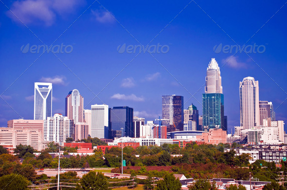 charlotte downtown - Stock Photo - Images