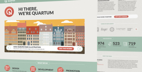 ThemeForest Quartum Site Template 3116317