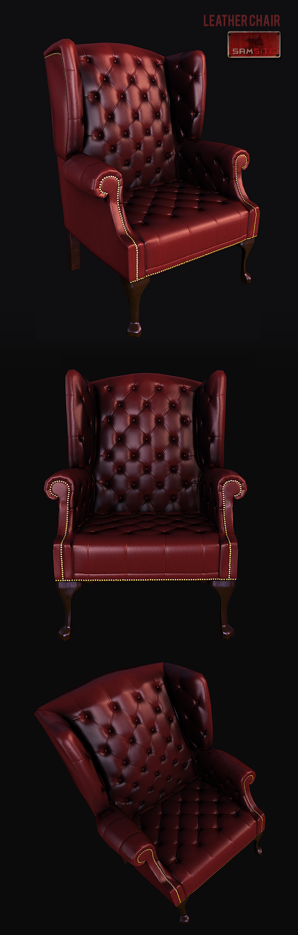 3DOcean Leather Chair 3199262