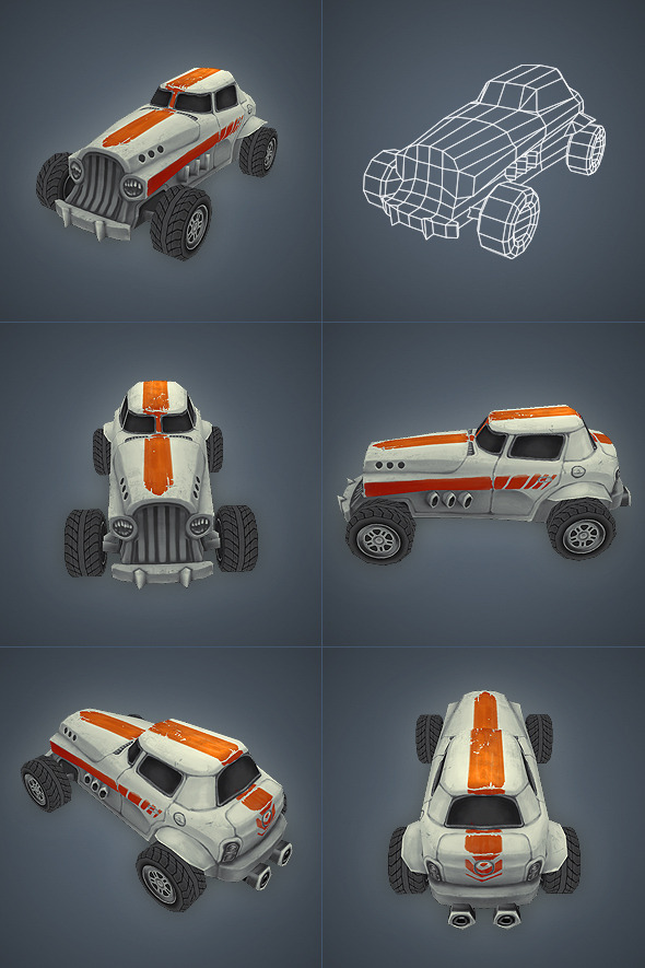 3DOcean Car 05 Low Poly 3199278