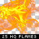 25 High Quality Hi-Res & Isolated Fire Flames - GraphicRiver Item for Sale
