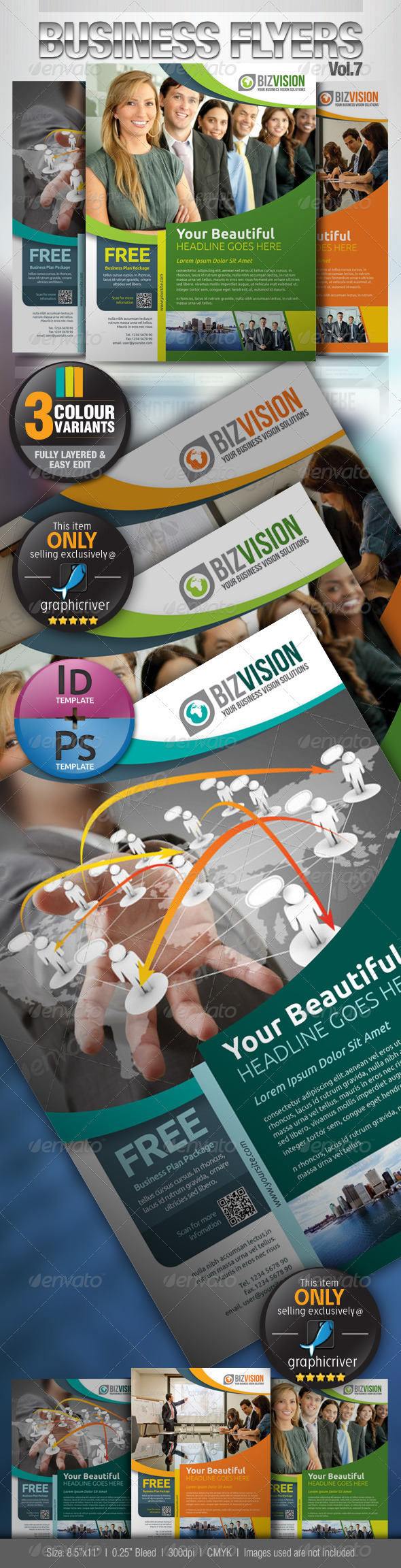 GraphicRiver Simple & Clean Corporate Flyer Vol.7 3184328