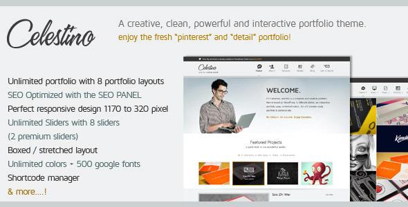 ThemeForest Celestino Clean and Creative Portfolio Theme 3183494