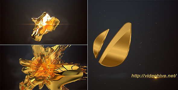 After Effects Project - VideoHive 3D Gold Logo 3200900