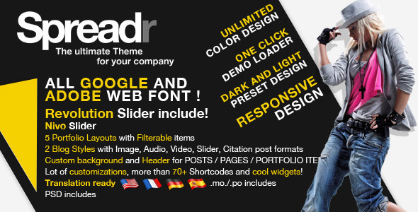 Spreadr - A Multipurpose Responsive WP Theme - Corporate WordPress