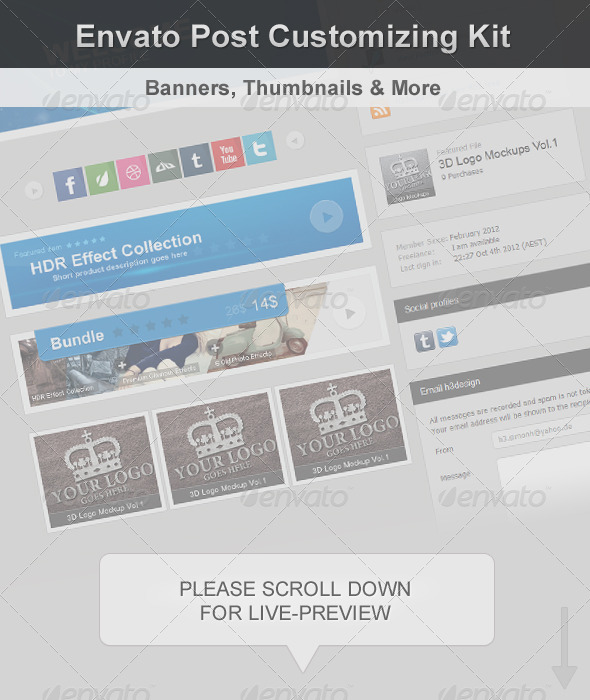 Envato Post Customizing Kit - Banners & Ads Web Elements
