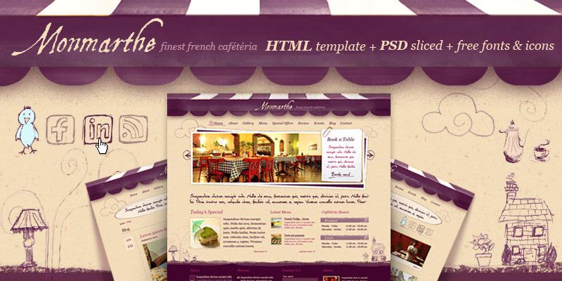 Monmarthe - Restaurant & Cafe HTML Template