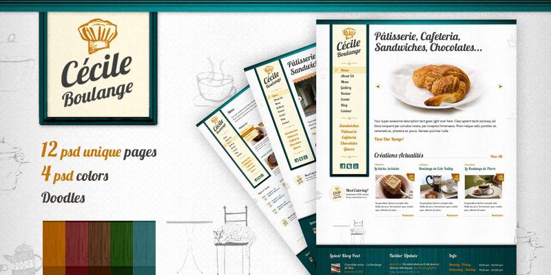 Cecile Boulange PSD - Bakery, Restaurant, Cafe