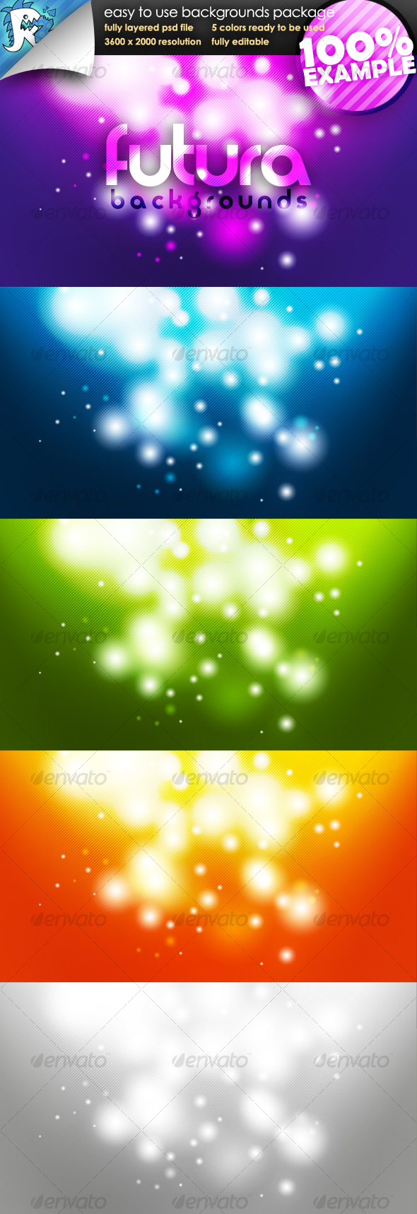 GraphicRiver Futura Glow Easy to use Backgrounds 112849