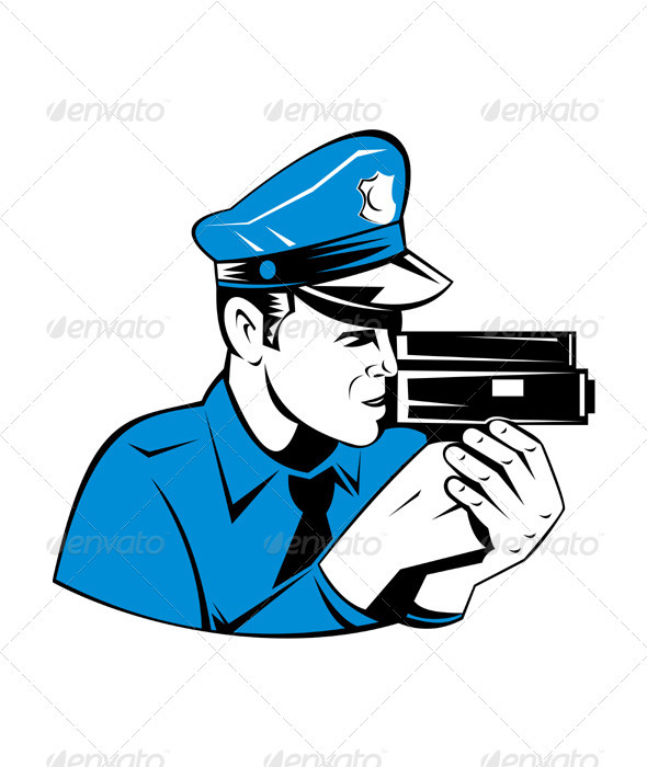 Policeman Police Officer Speed Camera