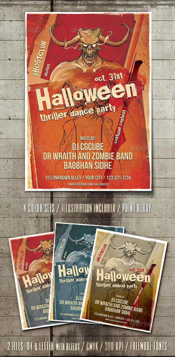 Halloween Thriller Flyer Template