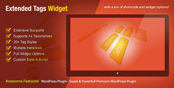 CodeCanyon Extended Tags Widget WordPress Premium Plugin 464929