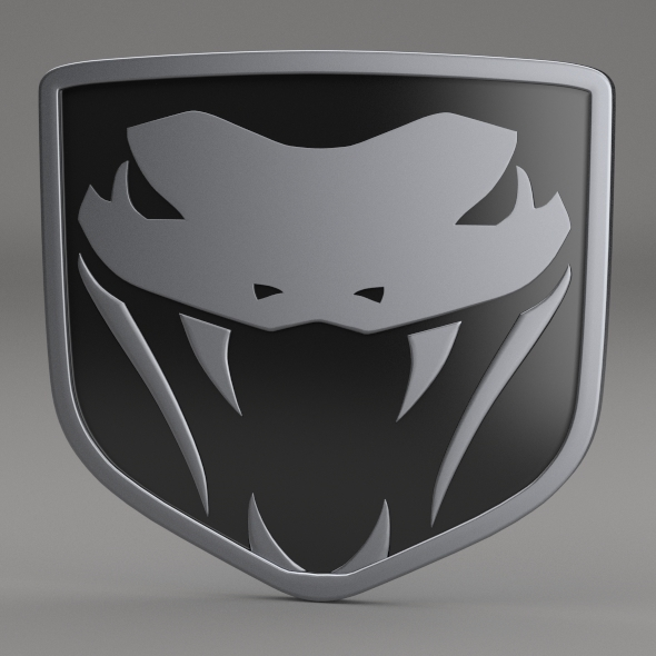 Dodge Viper Fangs Logo - 3DOcean Item for Sale
