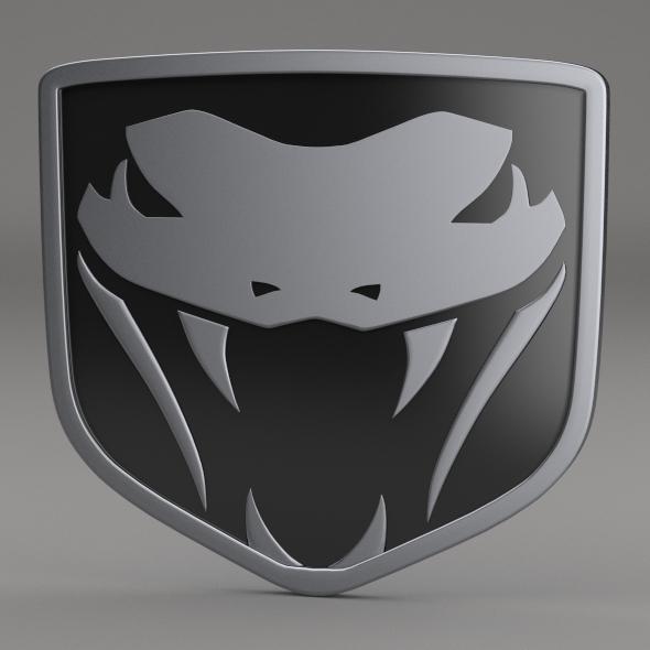 3DOcean Dodge Viper Fangs Logo 3204620