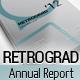 Retrograd - Annual Business Report - GraphicRiver Item for Sale
