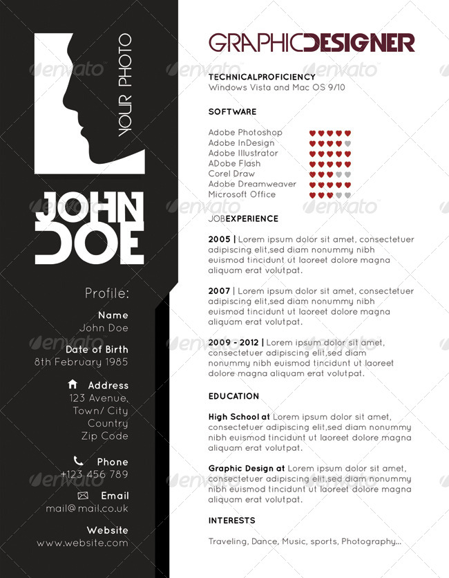 resume cv design templates by robisklp graphicriver