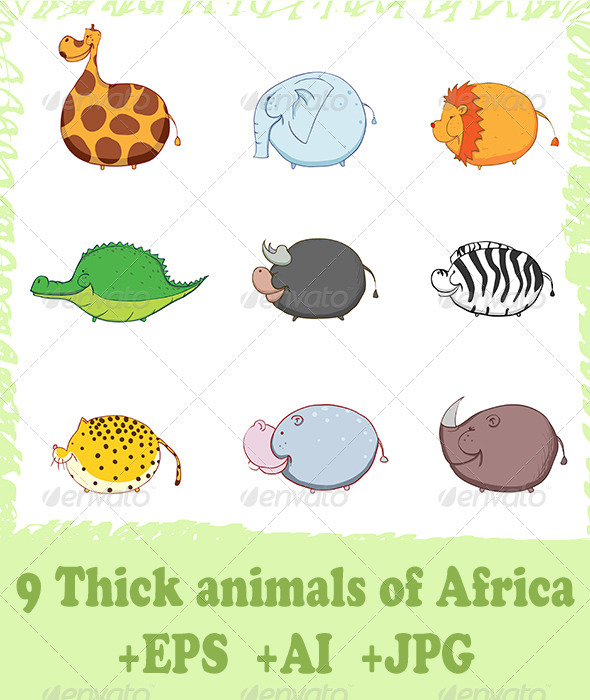 Thick animals of Africa