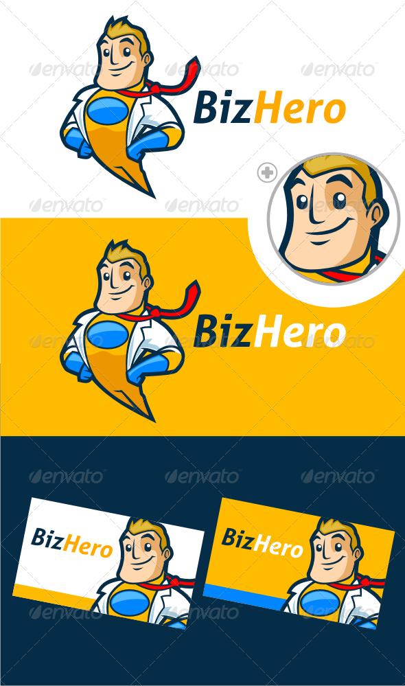 GraphicRiver Superhero Logo Template 3205069