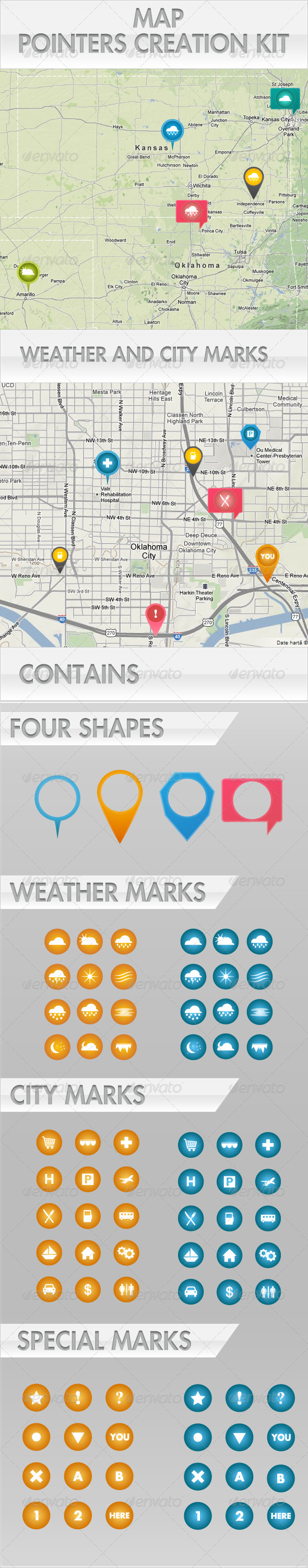 Map Pointers Creation Kit - Conceptual Vectors