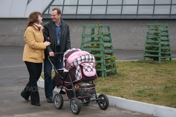 Stock Photography - family with carriage Photodune 3260530