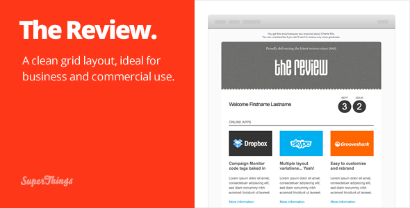 The Review E-newsletter design