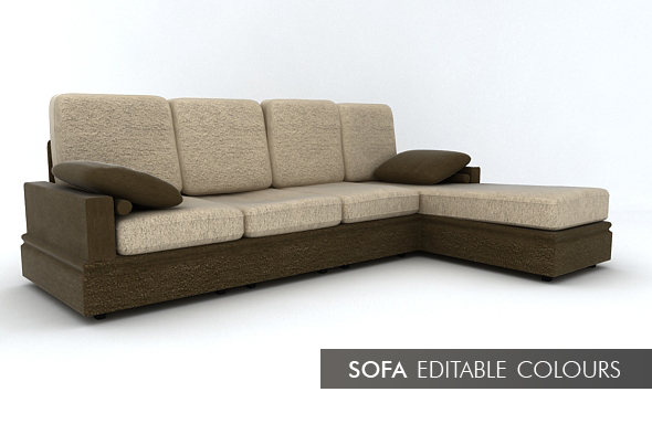 3DOcean Chaise Long Couch 112949