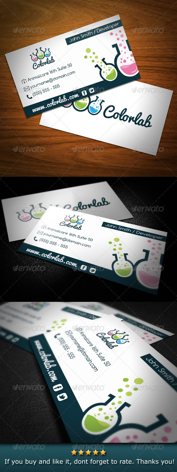 Color Lab Creative Studio Business Card