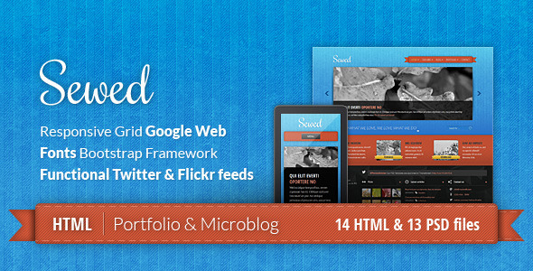 ThemeForest Sewed Responsive Portfolio and Microblog 3170355