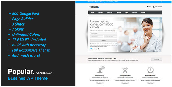 Popular - Responsive WordPress Theme