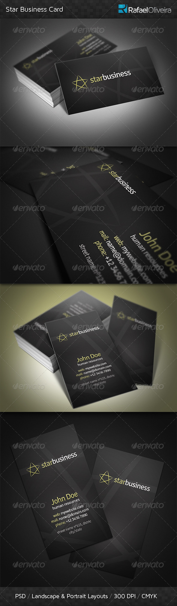 Star Business Card - Corporate Business Cards