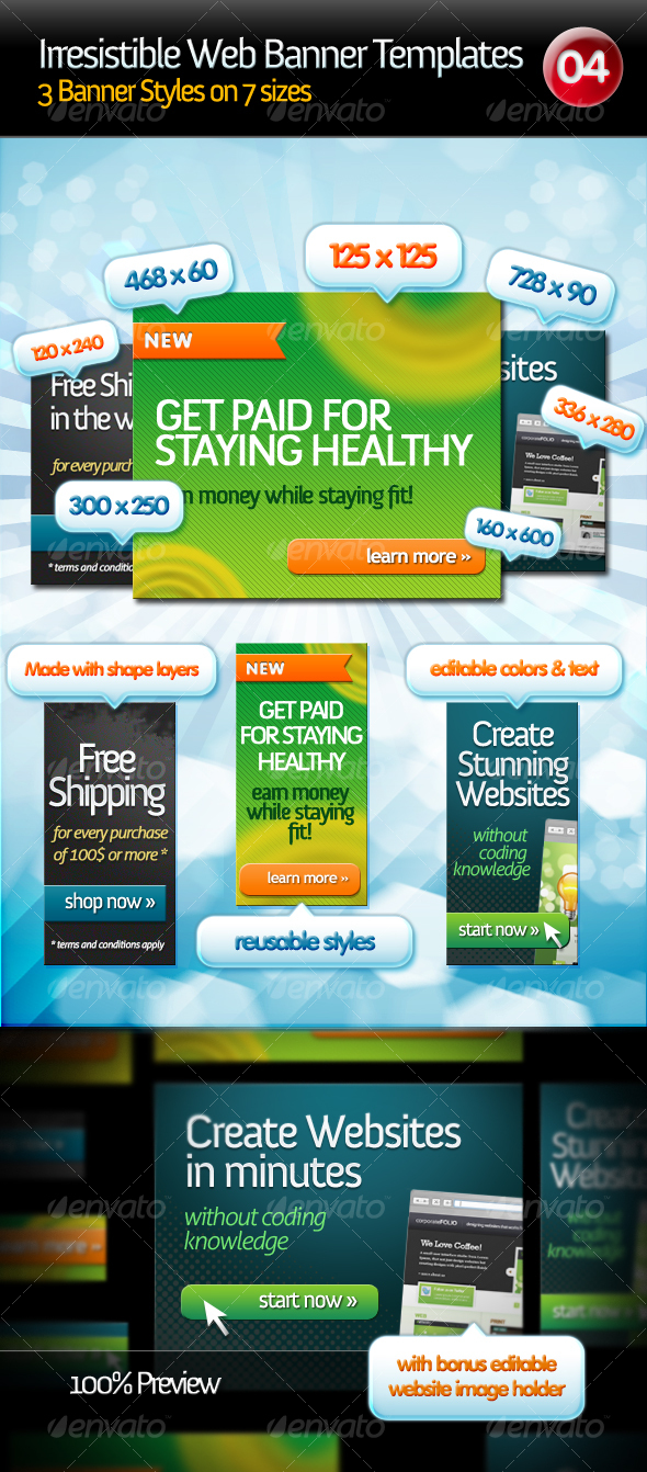 GraphicRiver Irresistible Web Banner Templates 04 113024