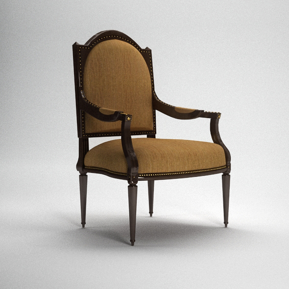 3DOcean Classic Armchair with Complete Scene INCLUDED 113038