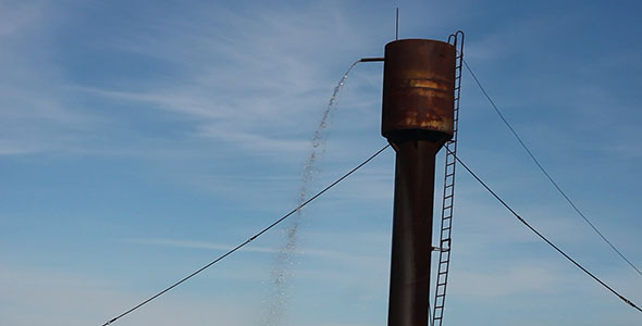 VideoHive Water Falls From Water Tower 2 3208730