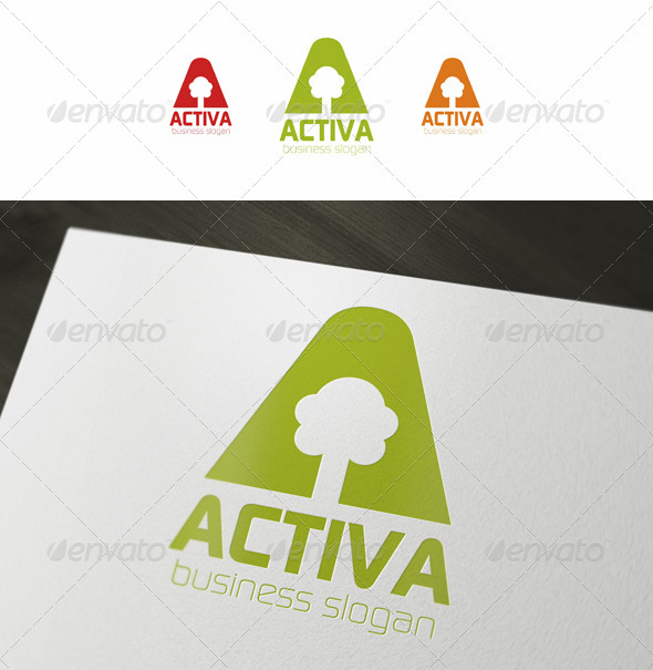 Activa - Leisure Logo Template - Letters Logo Templates