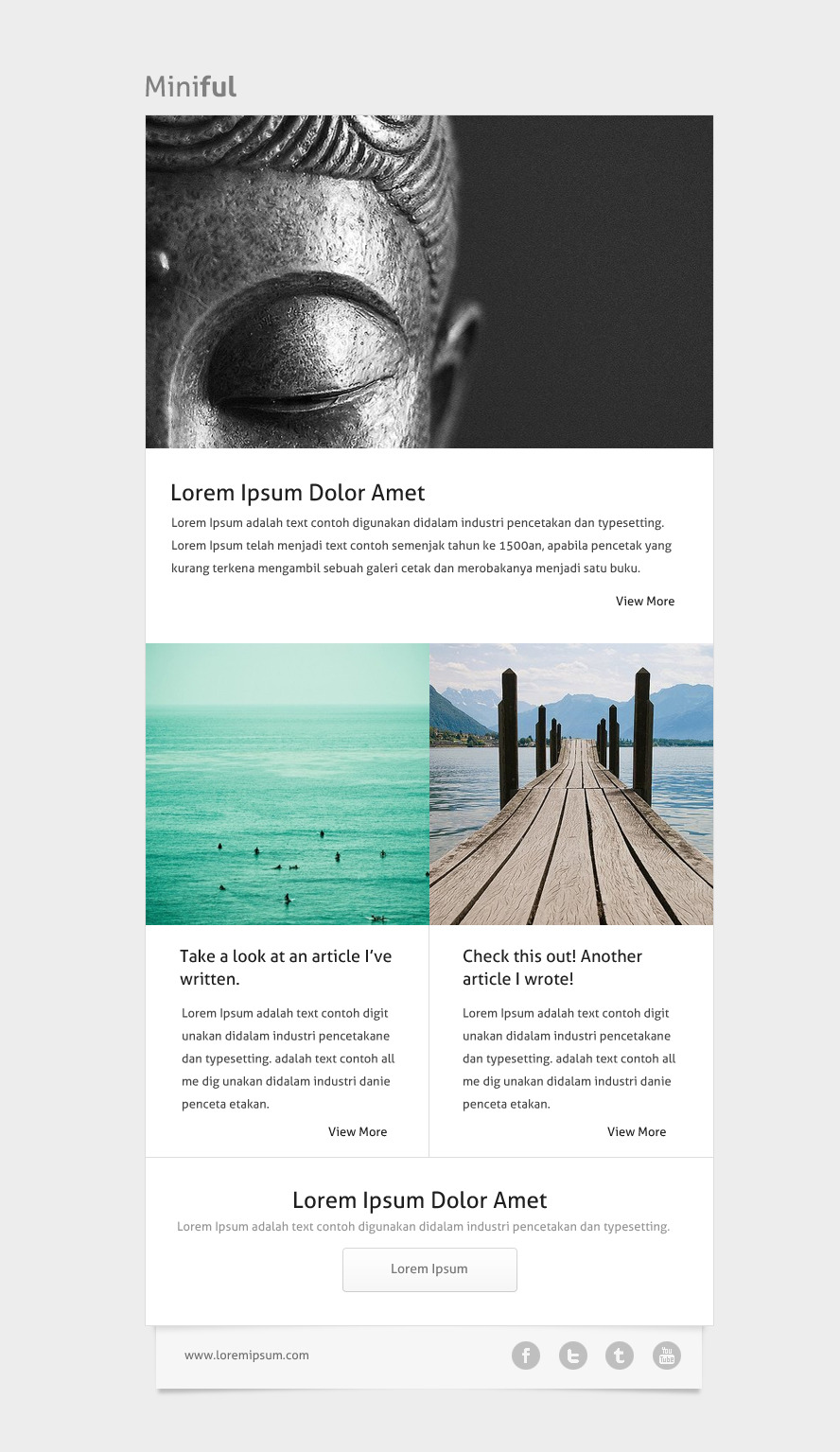 Miniful- A Minimal Email Template