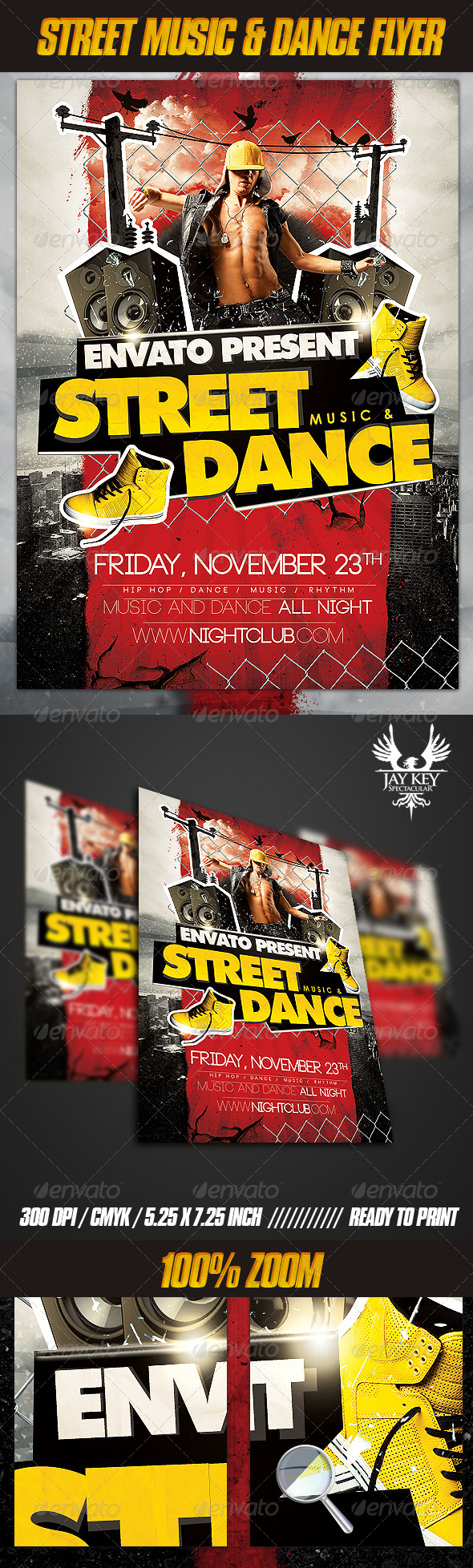GraphicRiver Street Music and Dance Flyer 3209356