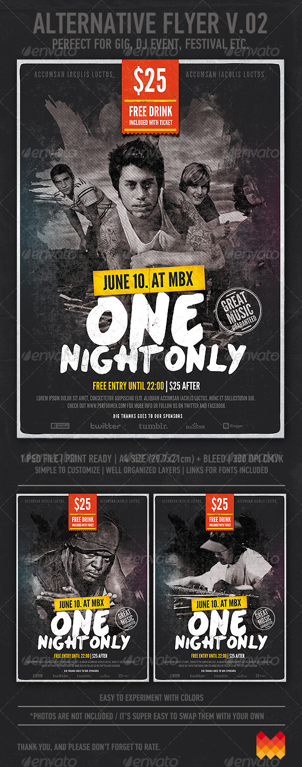 GraphicRiver Alternative Grunge Flyer or Poster v.02 3209365