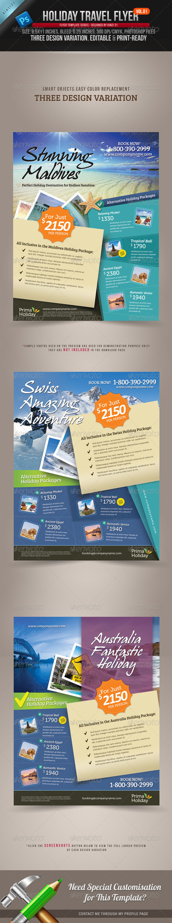 Holiday Travel Flyer Vol.01 - Holidays Events