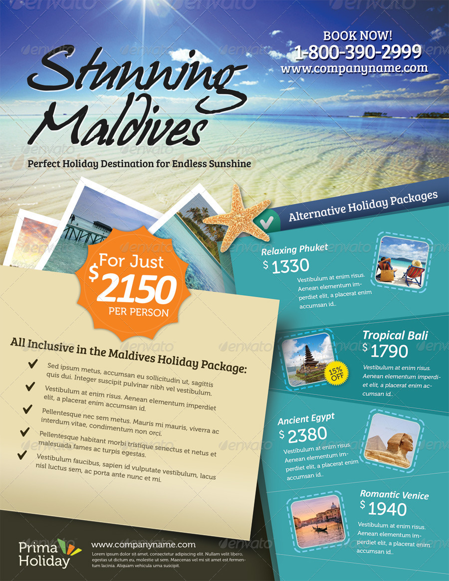 Holiday Travel Flyer Vol 01 By Kinzi21 Graphicriver
