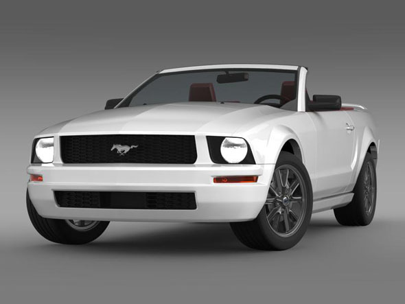 Ford Mustang Convertible - 3DOcean Item for Sale