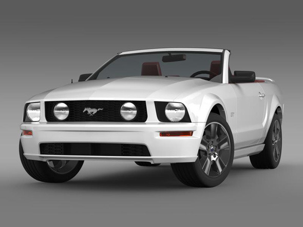 Ford Mustang Convertible GT - 3DOcean Item for Sale
