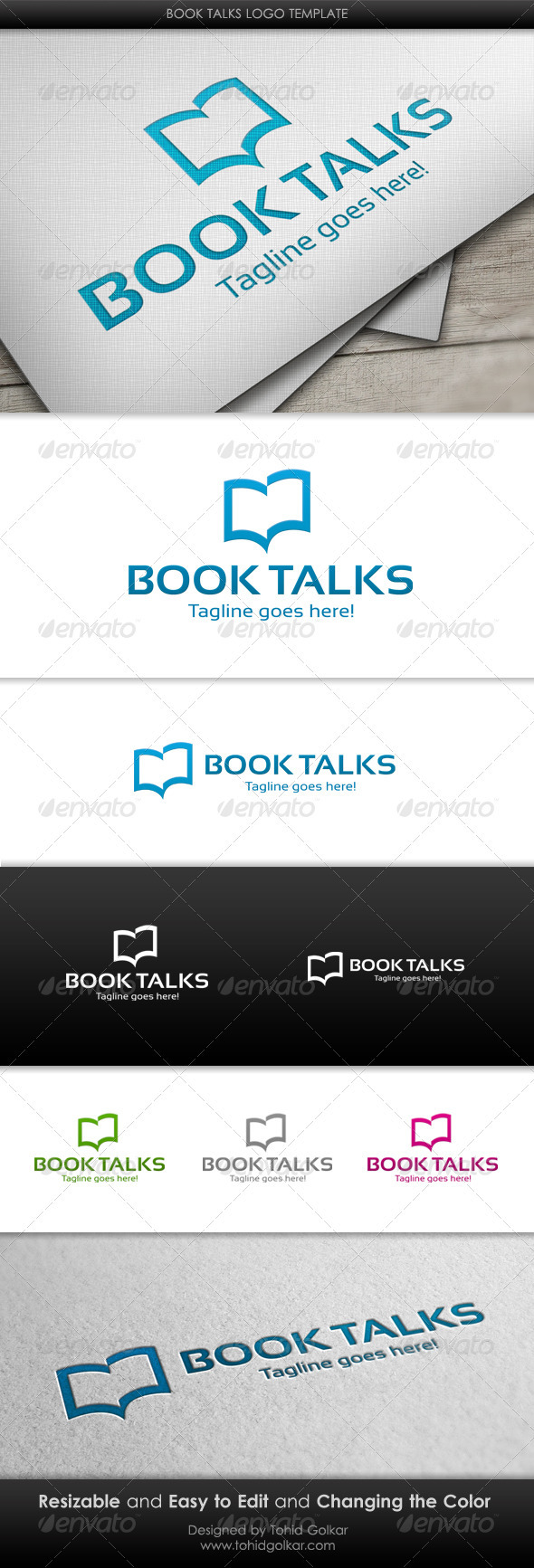 Book Talks Logo Template