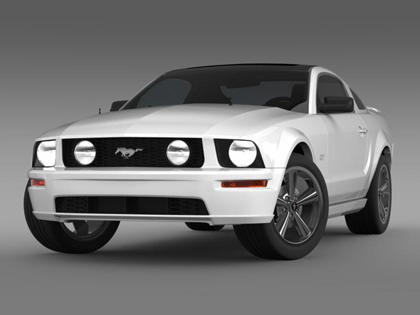 Ford Mustang glassroof GT - 3DOcean Item for Sale