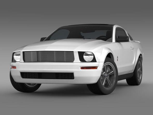 3DOcean Ford Mustang WIP 3210010